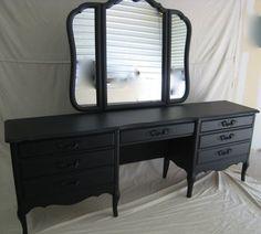I have to paint my moms vanity / dresser   Updated Vintage French Provincial Vanity/Dresser