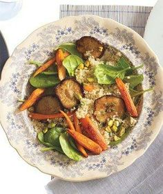Roasted Vegetable and Quinoa Salad With Pistachios recipe