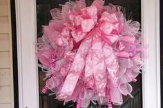 Deco Mesh Baby Wreath by WreathsEtc on Etsy, $115.00