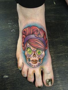 Brand new foot tattoo!!! By Raquel at Jolie Rouge.