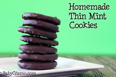 Thin Mint Cookies - Make yourself