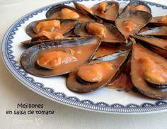 Cocinax2. Las recetas de Laurita.: Mejillones en salsa de tomate