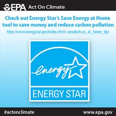 Check out the @U.S. Department of Energy STAR Save Energy at Home Tool for tips on how to save energy and cut carbon pollution in each room of your home. #ActOnClimate