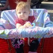Baby Shopping Cart Cover - via @Craftsy