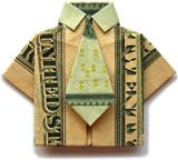 giving money origami ... fun!
