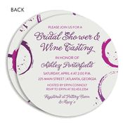 Wine and Wedding Rings Circle Bridal Shower