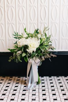 leafy bouquet, photo by Cassidy Parker Smith http://ruffledblog.com/notwedding-nyc #weddingbouquet #flowers #bouquets