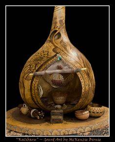 Kalibaru gourd art by McKenzie Birnie ~