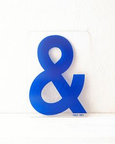 Ampersand. #ColorIntensity #CobaltBlue #TurnHeads