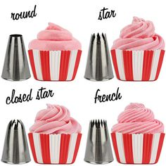 Create professional looking cupcakes with this cupcake decorating tip set. #cupcake