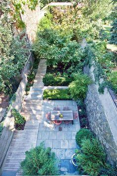 Beautiful Cobble Hill House garden - via Curbed NY