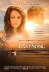 film, chick flicks, miley cyrus, nicholas sparks, the last song, poster, book, liam hemsworth, movi