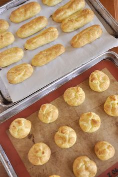 eclairs and cream puffs -great tutorial for them both!