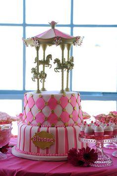 carousel cake...so cute