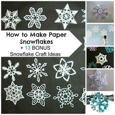 How to Make Paper Snowflakes + 13 Bonus Snowflake Crafts. You can even learn how to make a snowflake from an old CD!