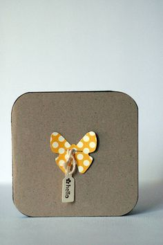 Handmade butterfly card. So simple.