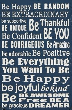Be happy and make a difference...