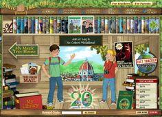 magic treehouse, school, technology integration, tree houses, fiction books, educational websites, trees, teacher websites, kids