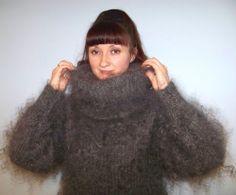 Cashmere mohair angora sweater coat pullover fur down organic fetish