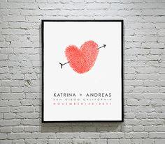 thumbprint heart, fingerprint art, thumb prints, dates, poster, fingerprints, bedside tables, anniversary gifts, heart tattoos