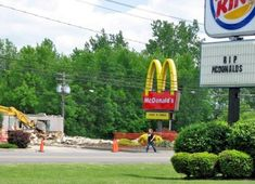 RIP Mcdonald's (find more funny signs at funnysigns.net)
