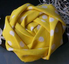 Fabric Cabbage Rose.  Tutorial.