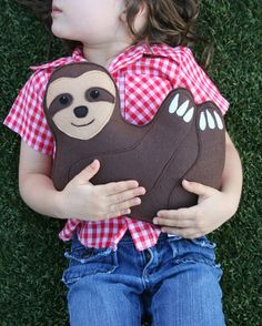 Sloth stuffed animal handmade on Etsy. Could sloths be the new hedgehog?