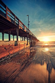 Under the Boardwalk  (Sunset perspective by Eric 5D Mark III, via Flickr) beautiful