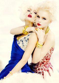 Lily Donaldson & Jessica Stam in Alexander McQueen by Sebastian Faena   V #53
