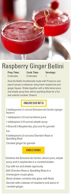 Rasberry Ginger Bellini
