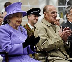 The Queen and The Duke of Edinburgh applaud a stage performance during a visit to Exeter, Devon, on the second day of a two-day tour of the South West to mark Her Majesty's Diamond Jubilee, 2 May 2012..