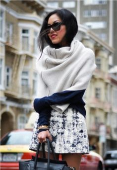 "Randi -- Please help me re-create this look. Do you think I can pull it off?  Am I ""cozy chic""?? :)"