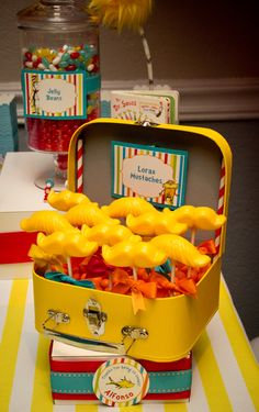Lorax Mustaches at a Dr. Seuss Party #drseuss #party