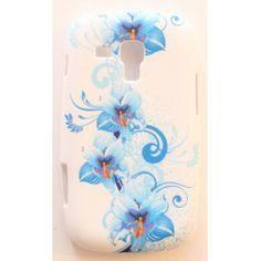 Galaxy Trend siniset kukat silikonisuojus.