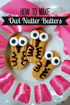 How to make owl Nutter Butters by Double the Fun Parties