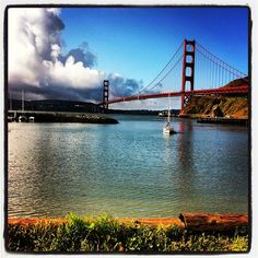 Out of the fog and into the sun. Come play under the Golden Gate! via Instagram