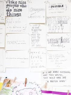 Jane Martino's amazing inspiration board, created by her partner Matt. LOVE IT! Photo by Eve Wilson for thedesignfiles.net