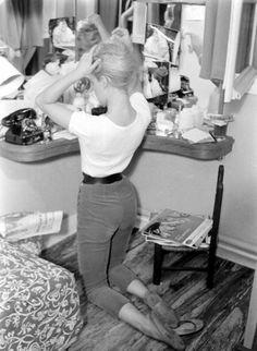 Brigitte Bardot. That tiny waist!