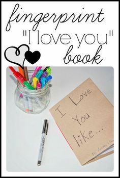 "Fingerprint ""I Love You"" book - I Can Teach My Child"