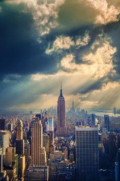 Ethereal skyline.
