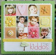 squar, scrapbook inspir, scrapbook layouts, bucket, scrapbook idea, scrapbook page layouts, scrapbook pages, kiddo layout, display photo
