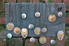 Vintage Watch Face Pendant Necklaces.