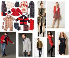 OUTFIT INSPIRATION  FALL FAMILY PHOTOS, WHAT TO WEAR, RED NAVY GRAY WHITE