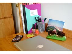 Keep your desk clean and add pops of color to keep things fresh!