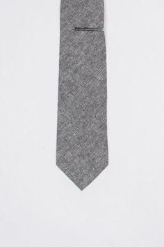 Burma Bibas Solid Effects Tie With Tie Bar