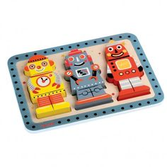adorable robot puzzle for little ones