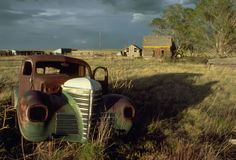 abandoned farm in eastern Colorado, in an area that suffered during the dust bowl years.