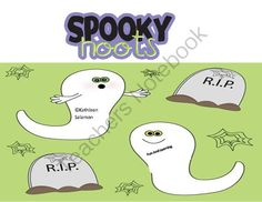 """FREE Spooky Hoots from Fun and Learning on TeachersNotebook.com -  (4 pages)  - In this game the children match words with the vowel digraph """"oo"""" to pictures in windows of a haunted house."""