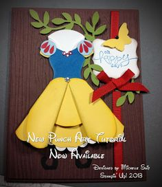 """$7.95 """"Suitably Punched"""" Tutorial - Snow White's Dress made with Stampin' Up! punches and framelits.  #diy  #Disney  #Princess #punchart  #girlie  #art  #gift ideas"""