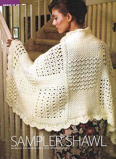 Sampler Shawl free pattern